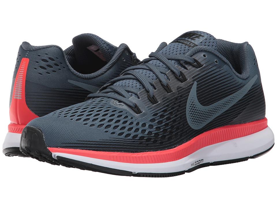 Nike Air Zoom Pegasus 34 (Blue Fox/Black/Bright Crimson/White) Men