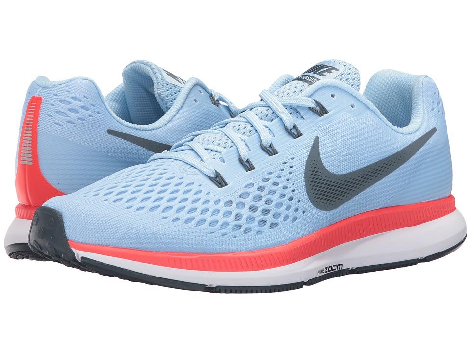 Nike Air Zoom Pegasus 34 (Ice Blue/Blue Fox/Bright Crimson/White) Men