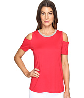 MICHAEL Michael Kors - Lurex Neck Cold Shoulder Top