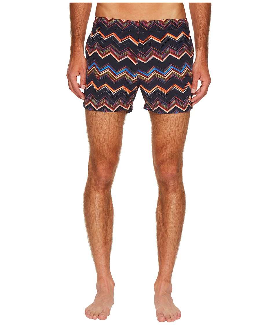 Missoni - Mare Printed Chevron Swimsuit w/ Bag
