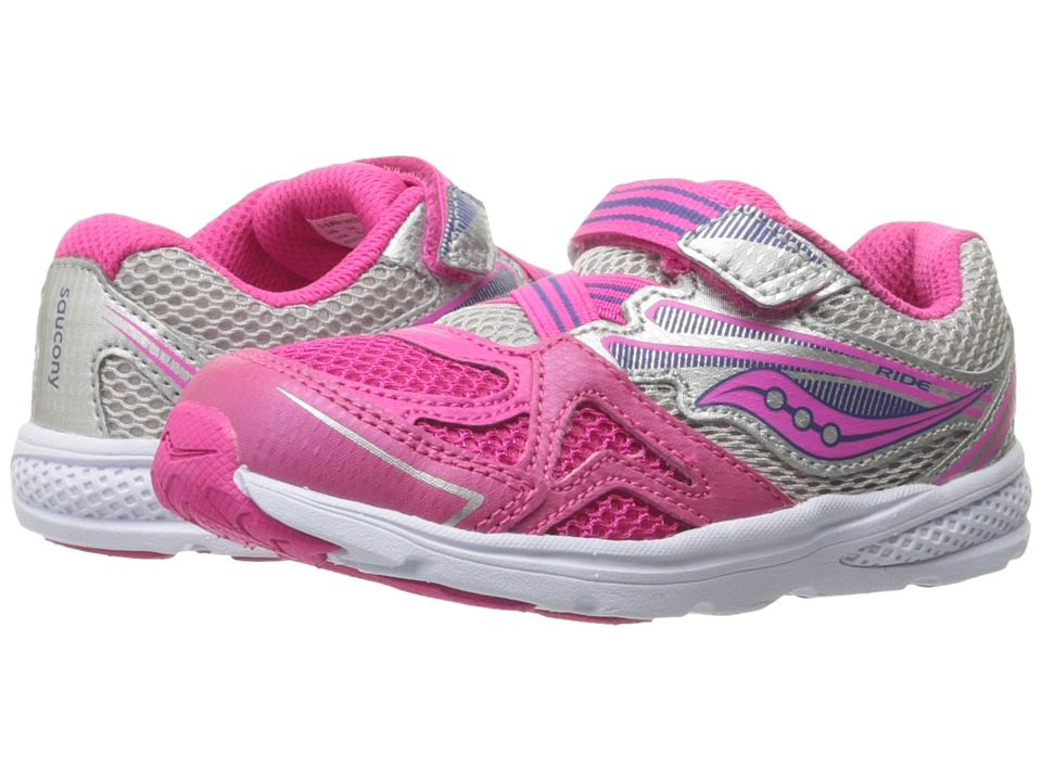 Saucony Kids - Ride 9 (Toddler/Little Kid) (Pink) Girls S...