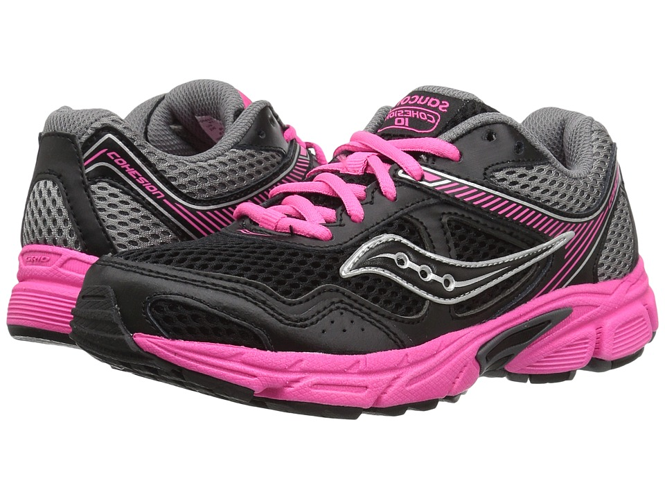 Saucony Kids - Cohesion 10 LTT (Little Kid/Big Kid) (Blac...