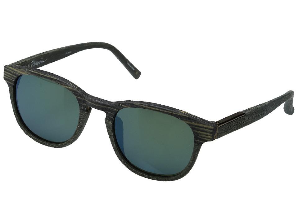 Image of 3.1 Phillip Lim - PL168C3SUN (Scratch Green/Green/Bronze/Green Mirror) Fashion Sunglasses
