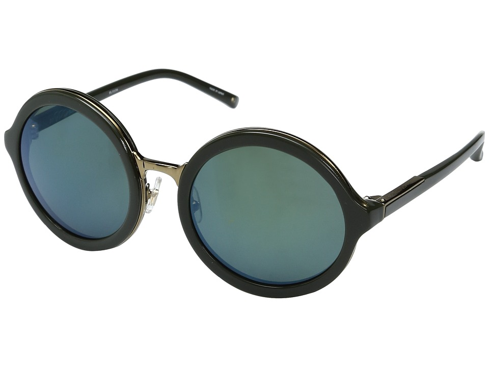Image of 3.1 Phillip Lim - PL11C34SUN (Dark Green/Bronze/Green Mirror) Fashion Sunglasses