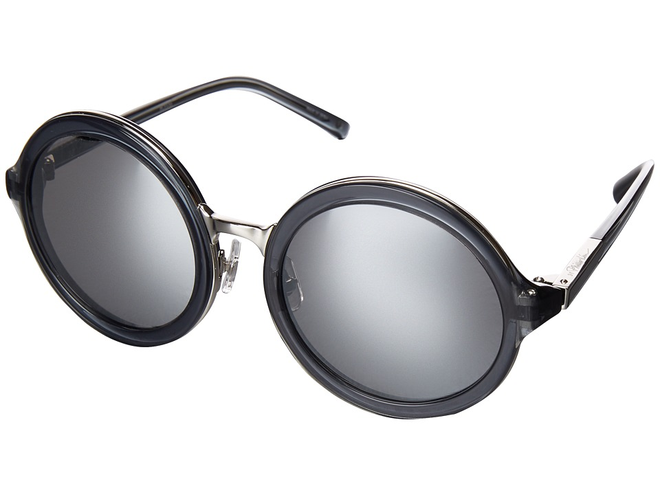 Image of 3.1 Phillip Lim - PL11C33SUN (Charcoal/Nickel/Silver Mirror) Fashion Sunglasses