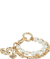 Betsey Johnson - Anchor Charm Mixed Pearl Bracelet
