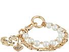 Betsey Johnson - Anchor Charm Mixed Pearl Bracelet