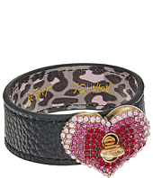 Betsey Johnson - Pave Heart Leather Bracelet