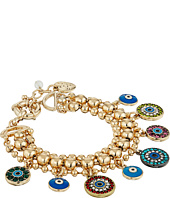 Betsey Johnson - Mixed Eye Charm Multi Row Bracelet