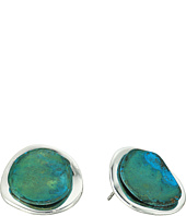 Robert Lee Morris - Patina Sculptural Button Stud Earrings