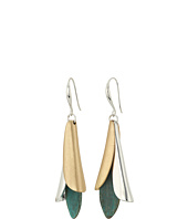 Robert Lee Morris - Patina Mixed Metal Sculptural Petal Drop Earrings