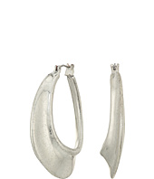 Robert Lee Morris - Sculptural Silver Hoop Earrings