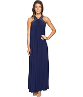 MICHAEL Michael Kors - Perma Pleat Embroidered Maxi Dress