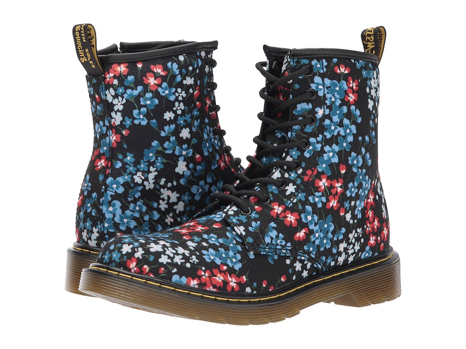 Dr. Martens Kid's Collection Delaney KF (Big Kid) (Kelly Floral Print T Canvas) Girls Shoes