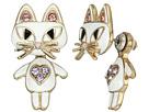 Cat Ear Jacket Earrings