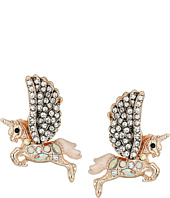 Betsey Johnson - Pave Pegasus Earrings