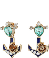 Betsey Johnson - Heart Anchor Earrings Jacket