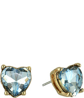 Betsey Johnson - Stone Heart Stud Earrings