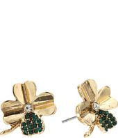 Betsey Johnson - Shamrock Stud Earrings