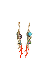 Betsey Johnson - Mixed Multi Charm Linear Earrings