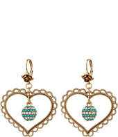 Betsey Johnson - Heart Orbital Drop Earrings