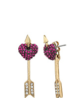 Betsey Johnson - Pave Heart Ear Jacket Earrings