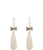 Betsey Johnson - Pave Bow & Stone Drop Earrings