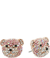 Betsey Johnson - Pave Bear Stud Earrings