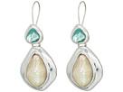 Robert Lee Morris - Mixed Stone Sculptural Double Drop Earrings