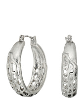 Robert Lee Morris - Geometric Cut Out Hoop Earrings