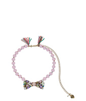 Betsey Johnson - Mixed Multicolored Stone Bow Frontal Beaded Necklace
