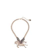 Betsey Johnson - Pave Pegasus Pendant Necklace