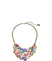 Betsey Johnson - Mixed Multicolored Stone Bib Necklace