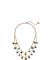 Betsey Johnson - Mixed Eye Charm 2 Row Necklace