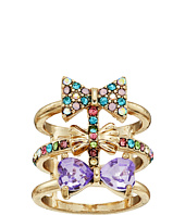 Betsey Johnson - Triple Bow Multi Row Ring