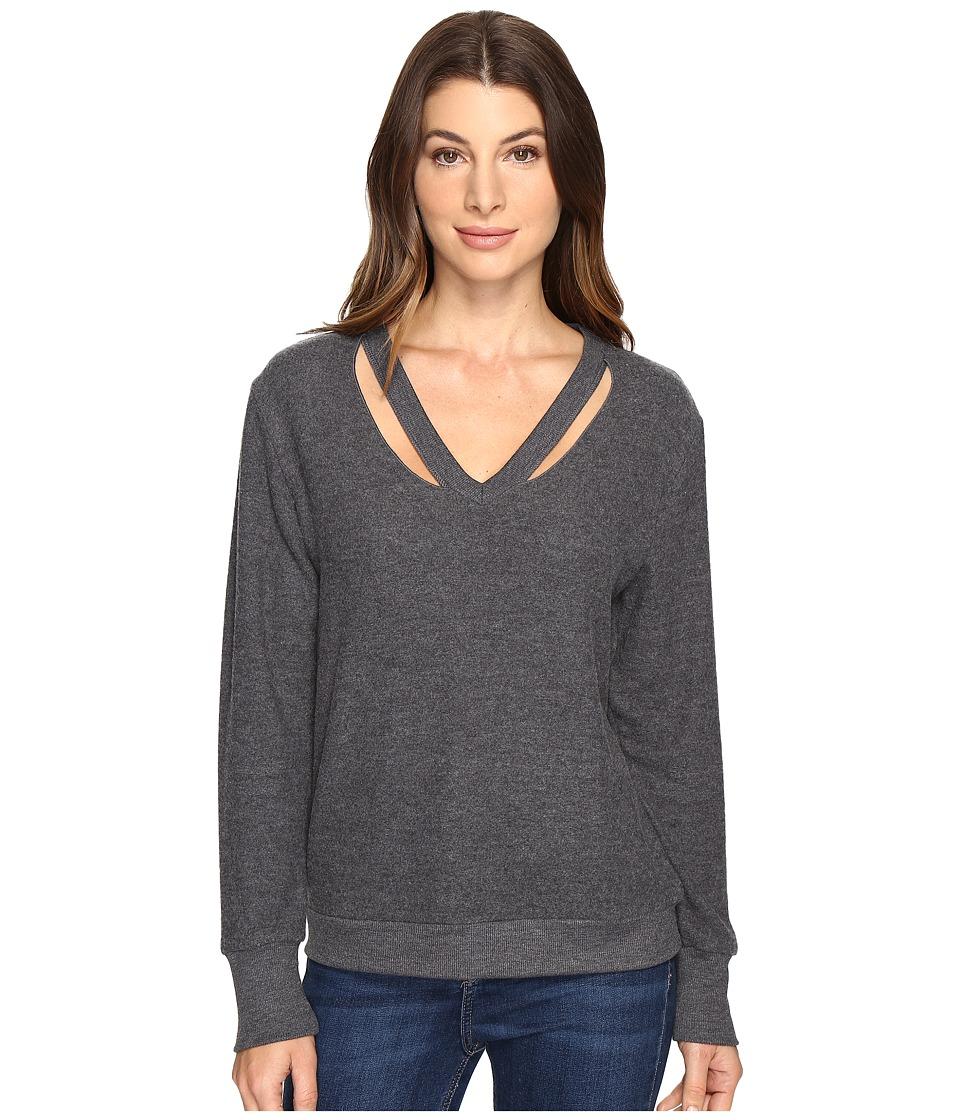 LNA Double Fallon Sweater (Vintage Black) Women