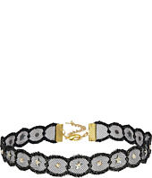 Chan Luu - Adjustable Metallic Lace Crystal Choker Necklace
