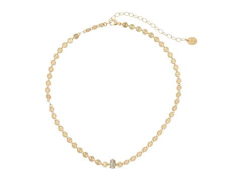 Chan Luu Adjustable Disc Choker with Semi Precious Stone Necklace - Labradorite