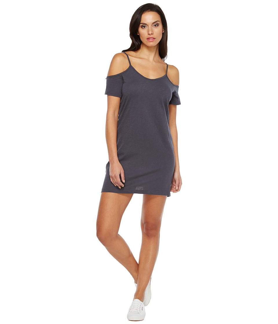 LNA Off the Shoulder Tee Dress (Faded Grey) Women