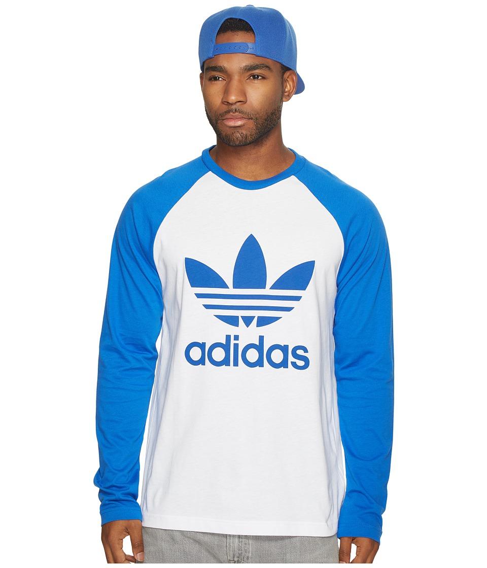 Adidas Originals - Trefoil Long Sleeve Tee (White/Blue) M...