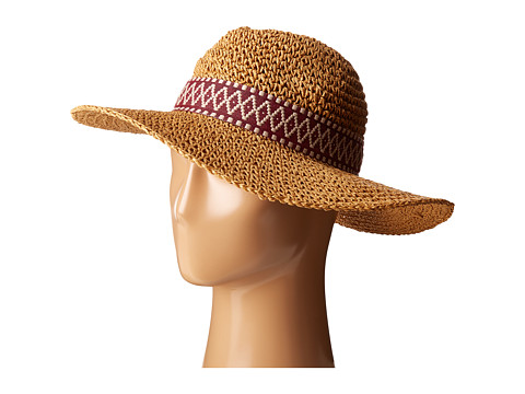 Echo Design Crochet Panama Beach Hat - Natural