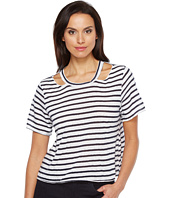 LNA - Stripe Cut Out Crop Tee