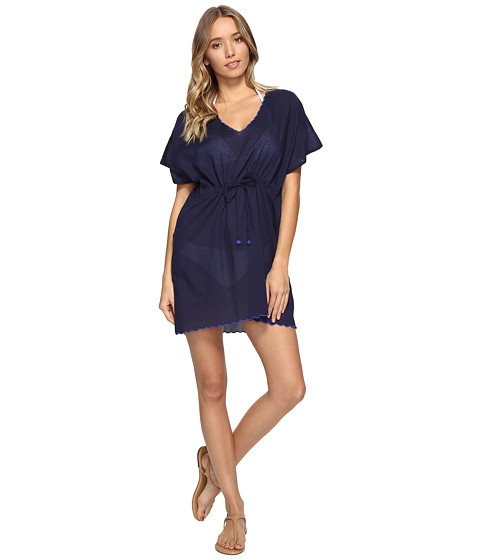 Echo Design Solid Scallop Tunic Cover-Up - Navy