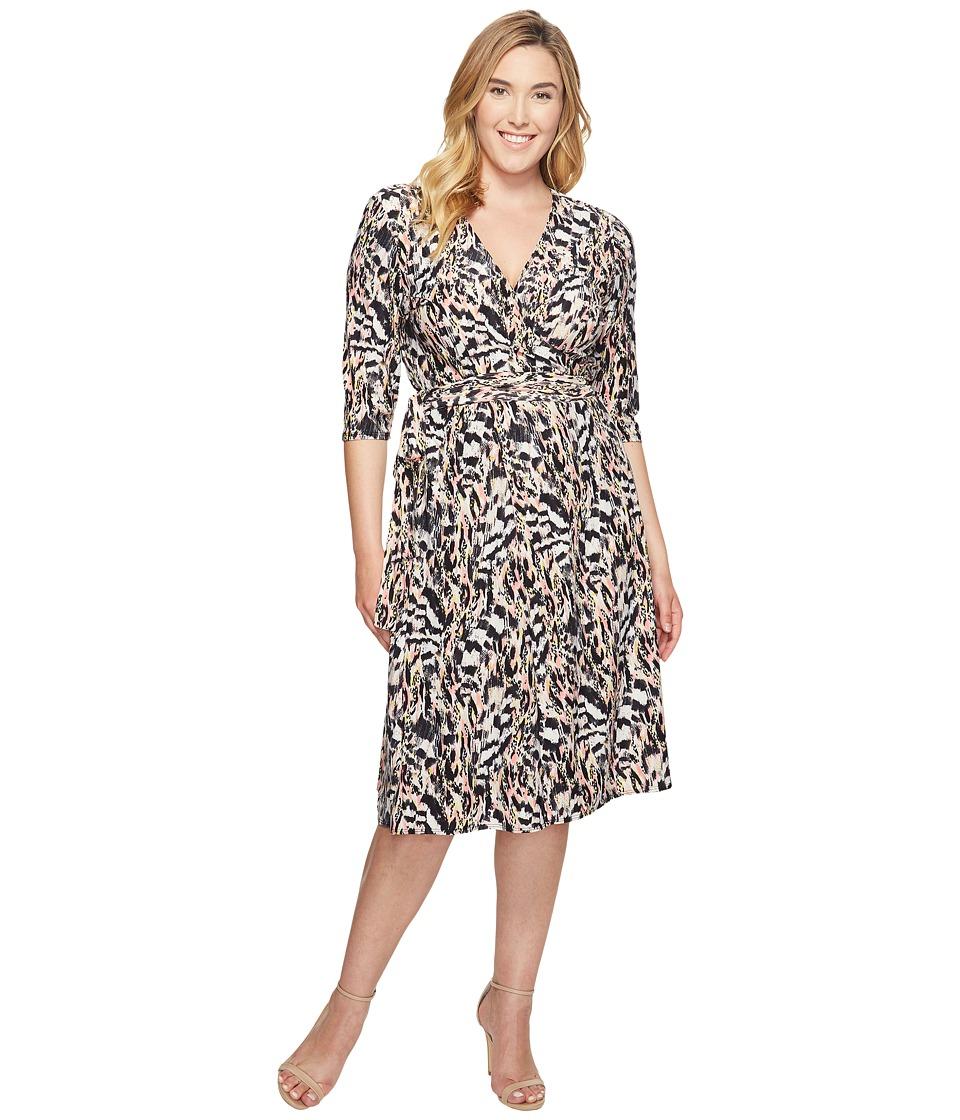 Kiyonna Essential Wrap Dress (Pink Safari) Women