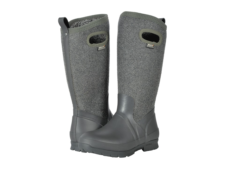 Bogs Crandall Tall Wool (Dark Gray) Women