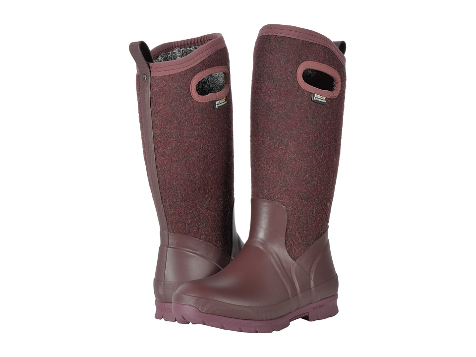 Bogs Crandall Tall Wool (Plum) Women