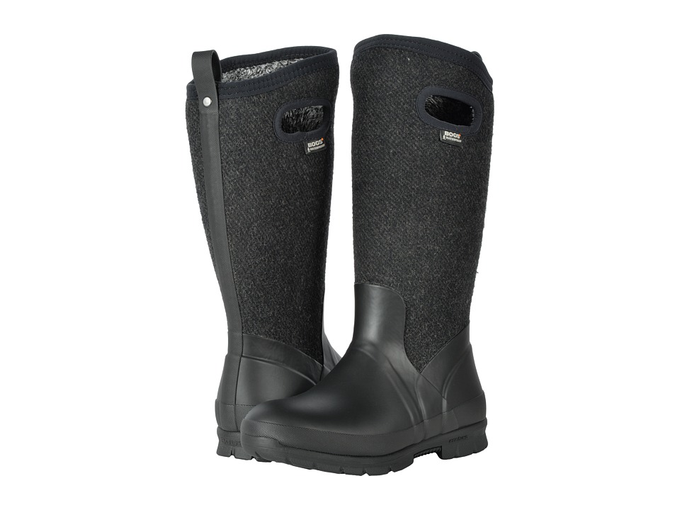 Bogs Crandall Tall Wool (Black) Women