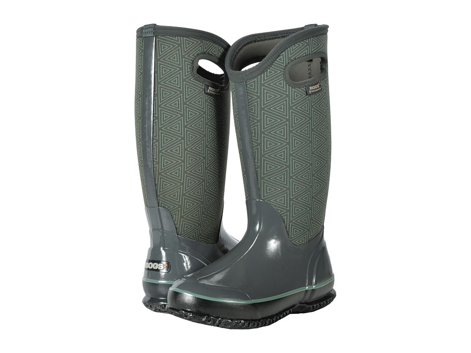 Bogs Classic Tall (Dark Gray Multi Triangles) Women