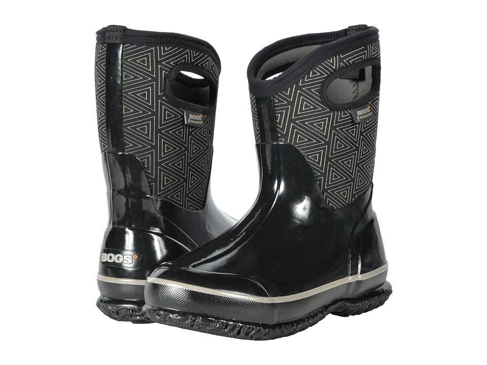 Bogs Classic Mid (Black Multi Triangles) Women
