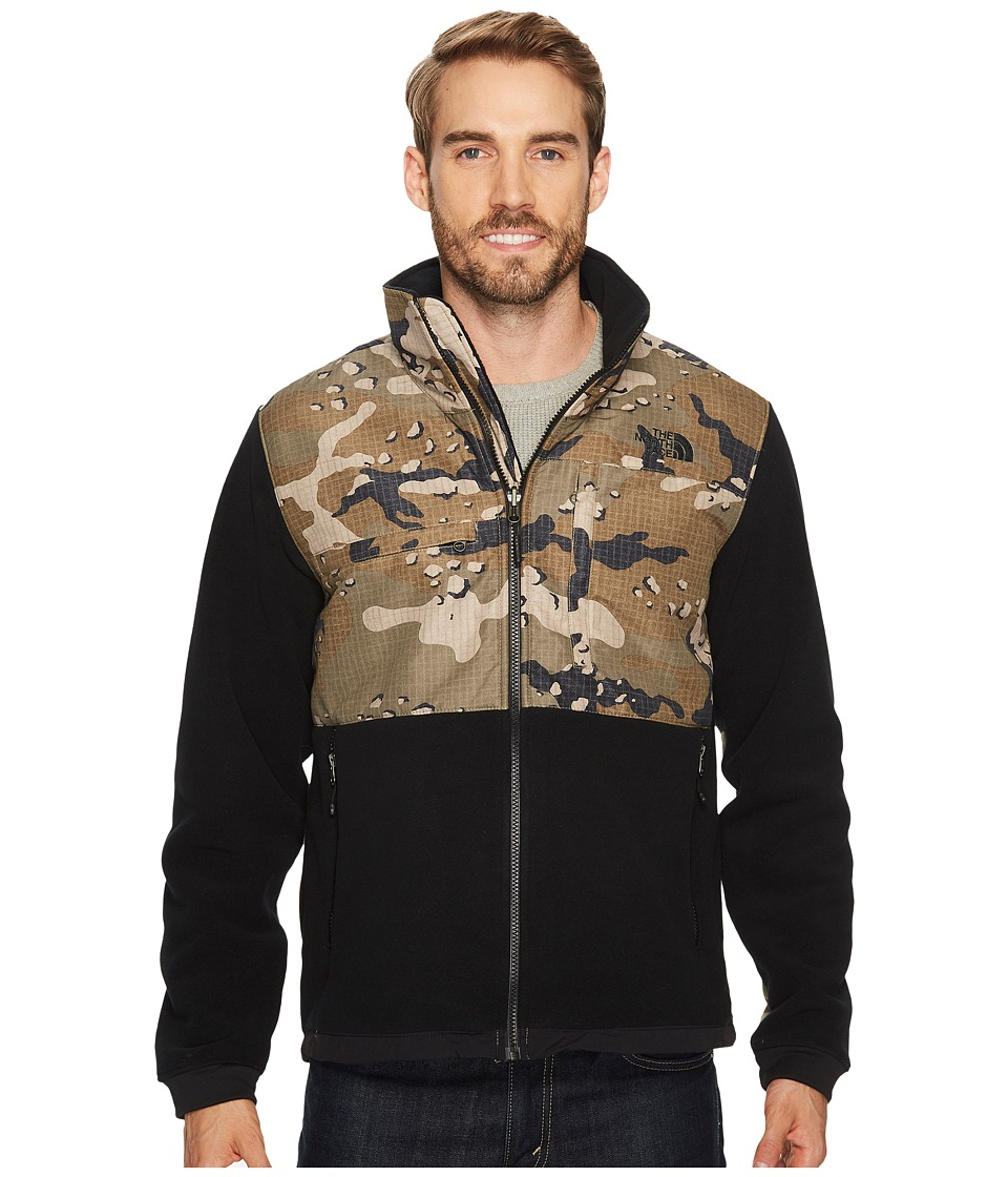 The North Face Denali 2 Jacket (Recycled TNF Black/Burnt Olive Green Woodchip Camo Print) Men